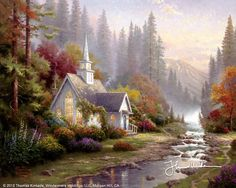 Forest Chapel by Thomas Kinkade