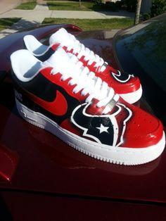 Custom Texans heels by Akkustomz on Etsy, $165.00 | TEXANS
