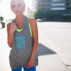 Breathe Freely Tank --Happy Pace