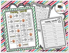 classroom, idea, math centers, high frequency words, word games, homeschool, educ, money games, spelling words