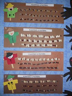 plant, animals, patterns, farm unit, gardens, math activities, kindergarten blogs, fall theme, scarecrows