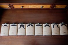 stache inspired groomsmen gifts  Photography by capturedbyjen.com