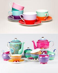 Fun and colorful tea sets