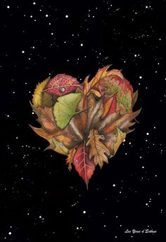 Leaf Heart / Glossy poster by LYDEX on Etsy, $10.00