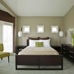 Green And Brown Bedroom Ideas Design, Pictures, Remodel, Decor and