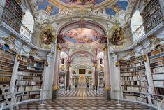 libraries, monasteri librari, abbey librari, book, salvador dali, beauti, largest monasteri, admont abbey, austria