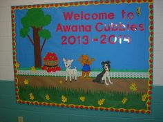 Awana Apple Seed Bulletin Board