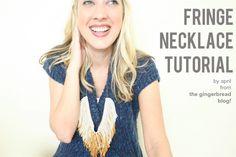 fringe necklace DIY