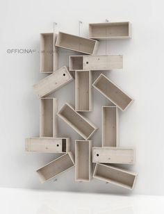composizione by officina41  #recycle #boxes #winebox #design #products #renovation #reuse #furniture