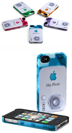 A company called Schreer Delights is selling a line of iPhone cases that reference Apple's design history, printing visual elements from the original Mac, the original iMac and the original iPod directly onto the case. Each runs a little under 50 bucks.