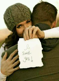 Winter Engagement pictures.. Mines going to say I said maybe! Lol!