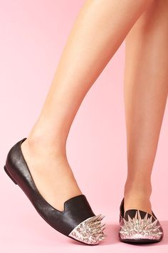 Not sure if I'd hurt myself, but I do love these -- Crown Spike Loafer by Jeffrey Campbell @ NastyGal.com