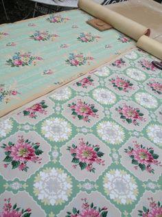 vintag wallpap, floral wallpap, vintag floral, wall paper, wallpap distress
