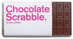 Chocolate scrabble! YUM! :)