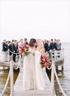 corinne + whitney   Whitney in Aiguille Gown from BHLDN   mi amore foto   vis: weddingchicks   #BHLDNbride