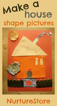 When you're learning about shapes, a good place to start is to make a house : math and art in one!