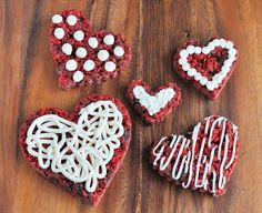 Red Velvet Rice Krispies Treats Hearts... by foodfamilyfinds.com