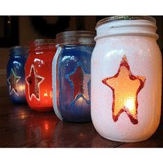 4th of July Luminaries From Crafts By Amanda  #4thofJuly #Crafts For The #Mamas #DIY