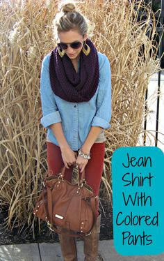 How to Wear a Chambray Shirt with Corduroy Pants