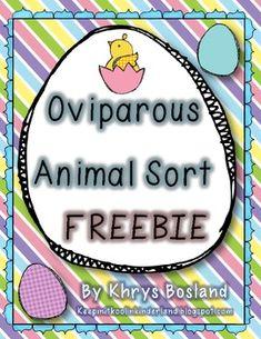 Oviparous Animal Sort {FREEBIE} - Khrys Bosland - TeachersPayTeachers.com