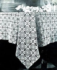 free crochet, pattern turn, jonquil tablecloth, crochet doili, vintage patterns, tablecloths, tablecloth pattern, crochet patterns, crochet tablecloth