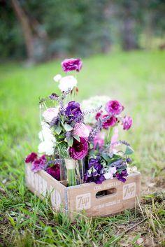 floral centerpieces, arrang idea, flower arrang, flower collect, flowersbeauti flower, crate, party flowers, flower boxes, flowersflow arrang