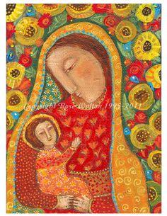 Primitive Madonna and Child