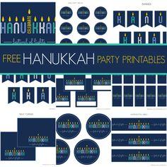 Free Hanukkah Party Printables