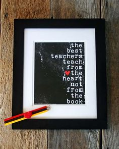 Teacher's Gift  The Best Teachers original by hairbrainedschemes, $15.00