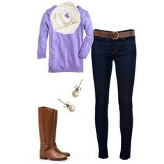 Lavender fall outfit