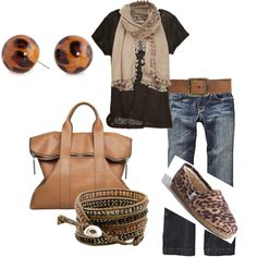 Casual Outfits - Casual neutrals <3