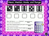SMARTBoard Interactive Mean, Median, Mode, and Range Practice product from 1-2-3-Interactive-Classro on TeachersNotebook.com