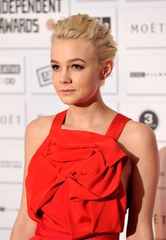 Carey Mulligan Bobby Pinned updo