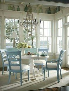 I LOVE the table AND the chairs!!! Would want to paint them sea green though!
