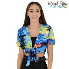 Ladies Wrap Top - Bl
