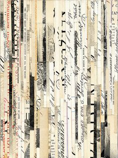 paper collage by valerie roybal | via RedBird Paperie