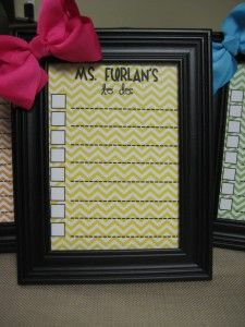 teacher to-do list in a picture frame
