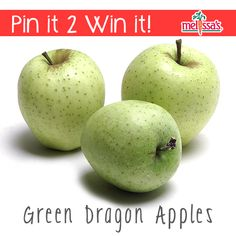 Re-Pin for a chance to win Melissa's delicious green dragon apples! #pinit2winit #pinittowinit #contest #giveaway #melissasproduce