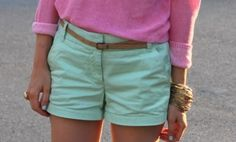 colored shorts