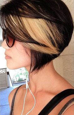 Great Hair Colors for Short Hair | 2013 Short Haircut for Women. See this is what I'd be stuck with if I frosted my hair. I don't like the dark and the stark white, I'm too old. | best stuff