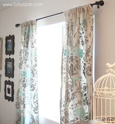 Make Your Own Stenciled Curtains