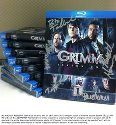 GIVEAWAY TIME! Enter to win a SIGNED copy of #Grimm Season 1 on Blu-ray when you RE-PIN this pin with hashtag #GrimmReturnsAug13!