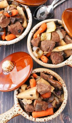 Slow Cooker Venison Stew with Parsnips and Carrots at This Mama Cooks! On a Diet - thismamacooks.com