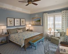 Bedroom with wainscoting ideas