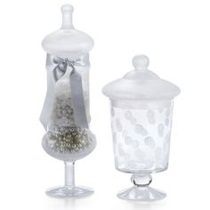 Crystal Elegance: DIY Frosted Lace Apothecary Jar