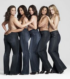 Plus size fashion: A pair of dark wash straight-leg jeans that make your bum look amazing is the holy grail of every girl's wardrobe.