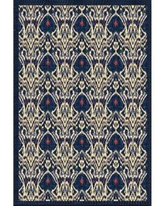 Charlotte Moss, blue ikat rug