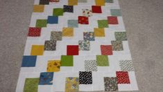 Falling Charm 39x45.5 quilt top