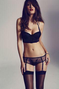 garter, dream bodies, sexi, fashion ideas, ann summer, dresses, red lips, beauti, black lingerie
