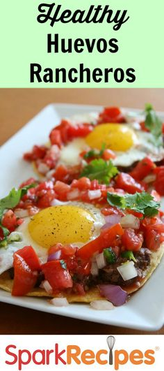 Huevos Rancheros recipe will have you smiling all day long. :) Super quick to make & super delicious too.  #recipe #breakfast  #fast